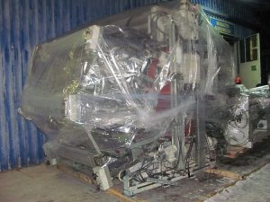 Factory machinery packing